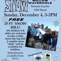 Snow at The Willow Waterhole/Holiday Music in the Park