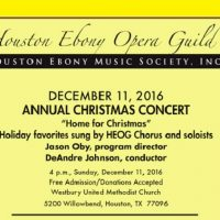 Houston Ebony Opera Guild Annual Christmas Concert: Home for Christmas