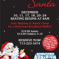 Breakfast with Santa at the Downtown Aquarium