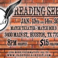 2nd Annual Fade To Black Reading Series