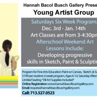 Saturday Art Classes, Young Artists Group
