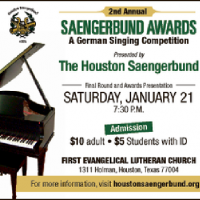 Houston Saengerbund 2nd Annual German Vocal Music Competition Finals Concert