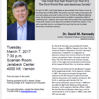 2017 B.K. Smith Lecture in History: Dr. David M. Kennedy