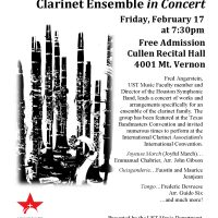 The Houston Symphonic Band Clarinet Ensemble in Concert