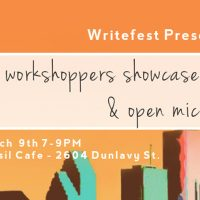 Writefest 2017 Workshoppers' Showcase and Open Mic Night