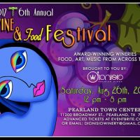 6th Annual Pearland Wine & Food Festival NEW DATE