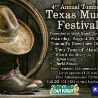 4th Annual Tomball Texas Music Festival CANCELLED DUE TO HURRICANE HARVEY