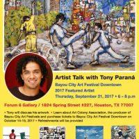 Artist Talk with Tony Paraná
