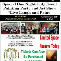 Live Laugh and Paint Art Show and Painting Party