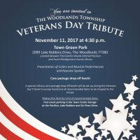 The Woodlands Township Veterans Day Tribute