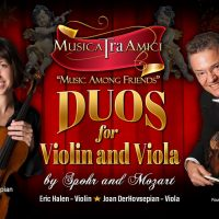 Duos for Violin and Viola by Spohr and Mozart