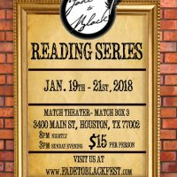 3rd Annual Fade To Black Reading Series