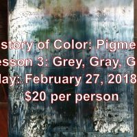 History of Color Pigments: Grey Workshop