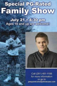Special PG-Rated Family Comedy Show with Greg Warren