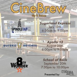 CineBrew Sip & Screen presented by Houston Cinema Arts Society