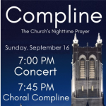 Organ Concert and Choral Compline