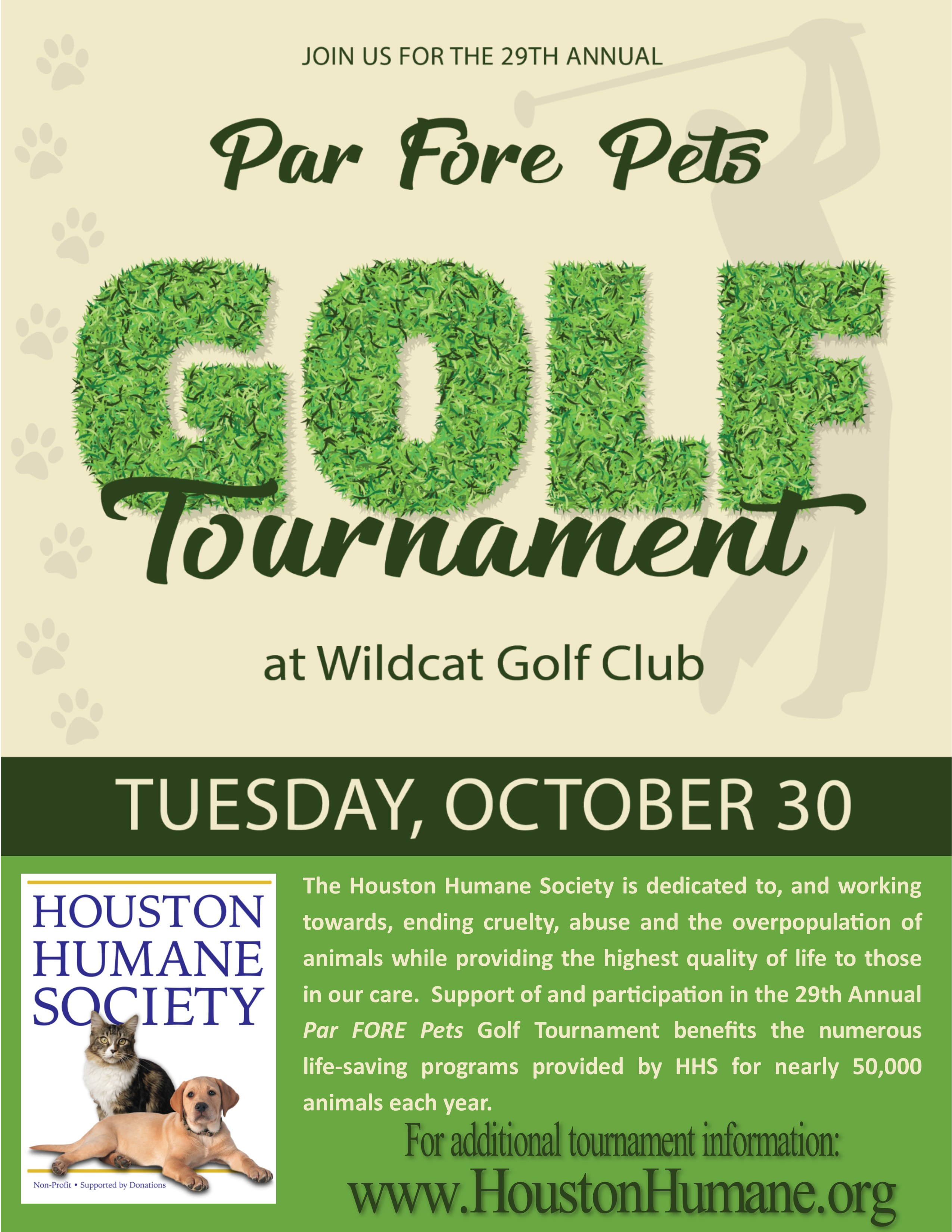 29th Annual Par FORE Pets Golf Tournament presented by ...