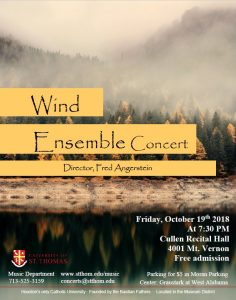 The University of St. Thomas Wind Endemble Concert...