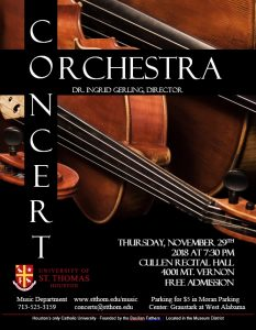 University of St. Thomas Orchestra Concert