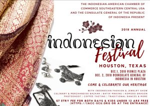 Annual Indonesian Festival Houston 2018