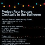 Project Row Houses Hosts Cocktails in the Ballroom