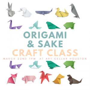 Origami & Sake Sipping Craft Class