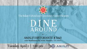 ICCC Dine Around at Amalfi Ristorante & Bar