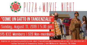 "Pizza + Movie Night: ""Come un gatto in tangenziale..."