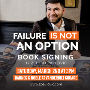 Failure is not an option: Booking signing by Zeljk...