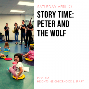 Peter and the Wolf at Heights Neighborhood Library...