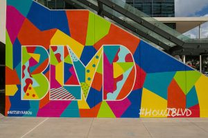 BLVD Place Mural Launch featuring Treaty Oak Disti...