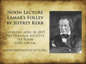 Noon Lecture-Lamar's Folly