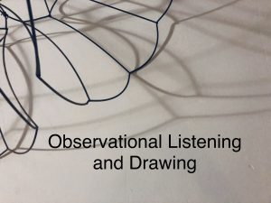 Recreational Aesthetics: Observational Drawing in ...