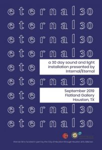 Eternal 30 - a 30 Day Sound and Light Installation...
