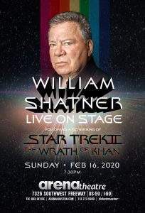 William Shatner, live on stage with The Wrath of K...