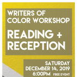 Writespace Writers of Color Reading & Reception