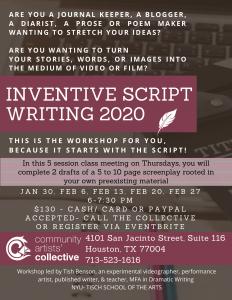 Inventive Script Writing 2020