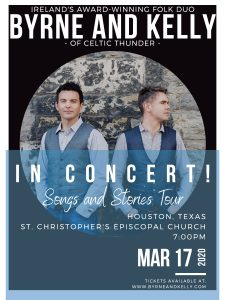 St. Patrick's Day Concert: Byrne and Kelly of Celt...
