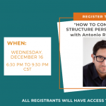 """How to Conceive and Structure Personal Essays"" ONLINE with Antonio Ruiz-Camacho"