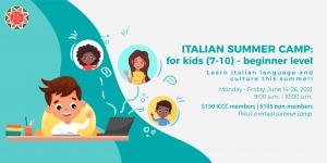 Italian Summer Camp - Kids Beginner Level