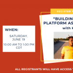 """""""Building Your Platform as a Writer"""" with KB"""