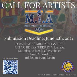 Military Inspired Art (M.I.A.) Artist Open Call