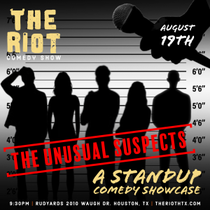 """The Riot Standup Comedy Show presents """"The Unusual..."""