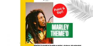 Bob Marley Themed Paint Party