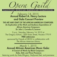 Houston Ebony Opera Guild Annual Robert A. Henry Lecture and Gala Concert Preview