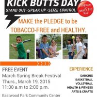 Kick Butts Day (at the Spring Break Festival) DATE CHANGE