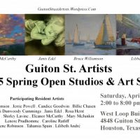 Guiton St. Artists 2015 Spring Open Studios & Art Sale