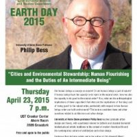 Earth Day Lecture: Cities and Environment Stewardship