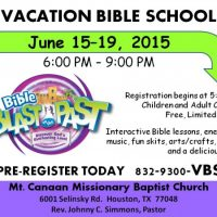 Vacation Bible School - Bible Blast to the Past