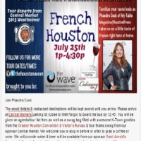 French Houston-Where the Food Writers Eat- Phaedra Cook from My Table Magazine & Houston Press on the Frenchmen's Tour